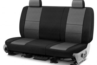 Image may not reflect your exact vehicle! Coverking® - Spacer Mesh 2nd Row Black & Gray Custom Seat Cover