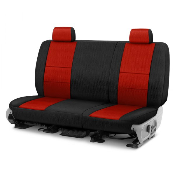 Coverking® - Spacer Mesh 2nd Row Black & Red Custom Seat Cover