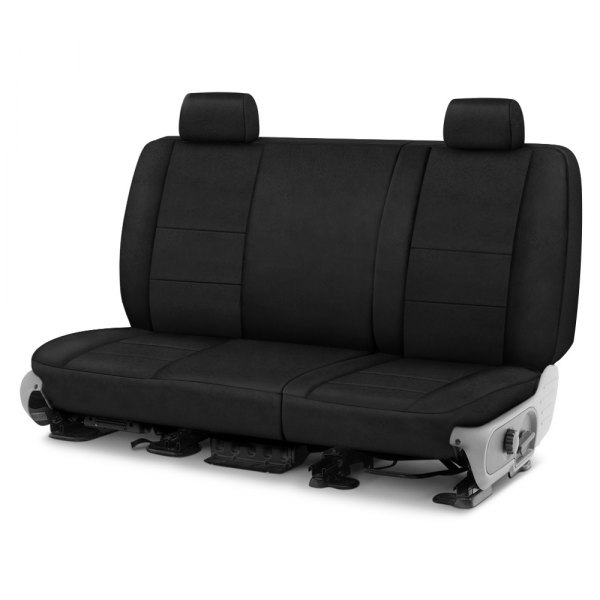 Image may not reflect your exact vehicle! Coverking® - Suede 1st Row Black Custom Seat Cover