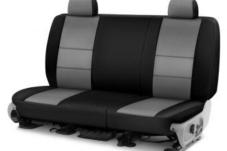 Coverking® - CR-Grade Neoprene 2nd Row Black & Medium Gray Custom Seat Cover