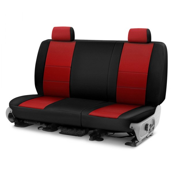 Image may not reflect your exact vehicle! Coverking® - CR-Grade Neoprene 2nd Row Black & Red Custom Seat Cover