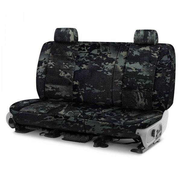Coverking® - Multicam™ 2nd Row Black Custom Seat Covers