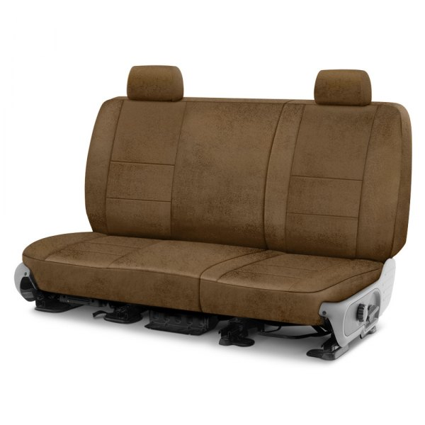 Coverking® - Velour 2nd Row Beige Custom Seat Cover