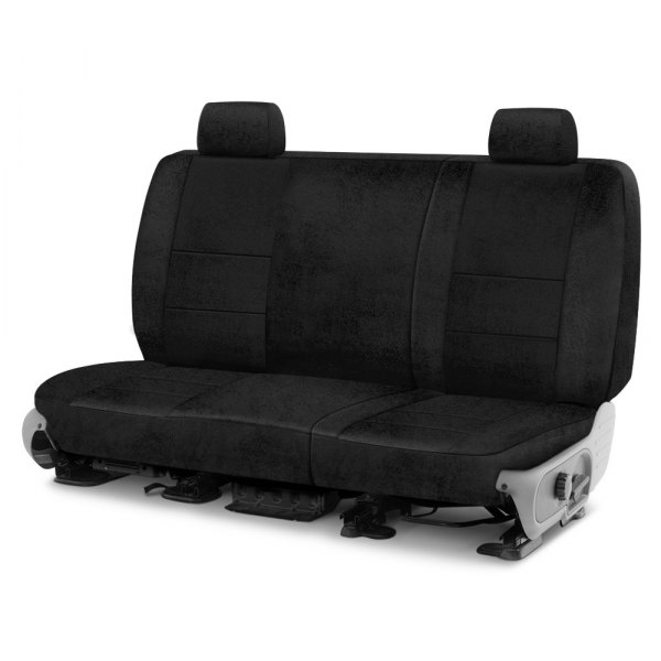 Image may not reflect your exact vehicle! Coverking® - Velour 2nd Row Black Custom Seat Cover