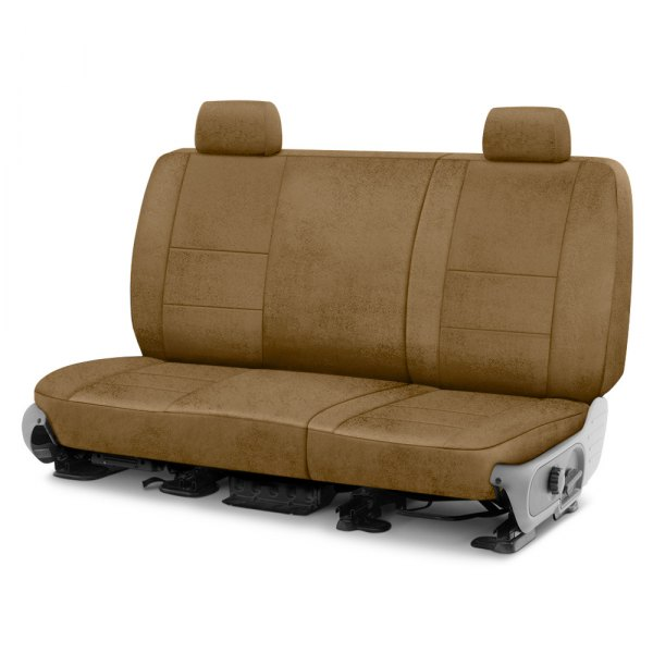 Coverking® - Velour 2nd Row Tan Custom Seat Cover