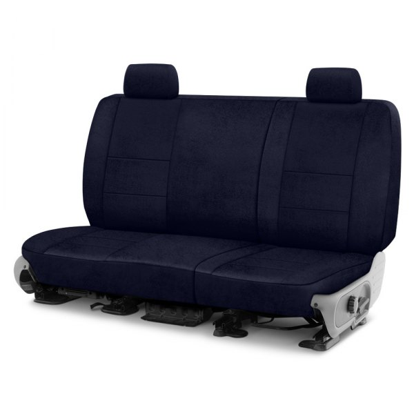 Image may not reflect your exact vehicle! Coverking® - Velour 2nd Row Dark Blue Custom Seat Cover