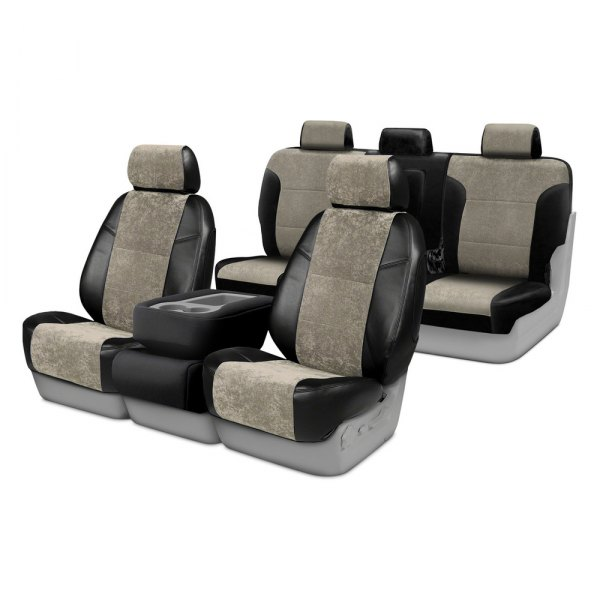 Image may not reflect your exact vehicle! Coverking® - Alcantara Custom Seat Covers