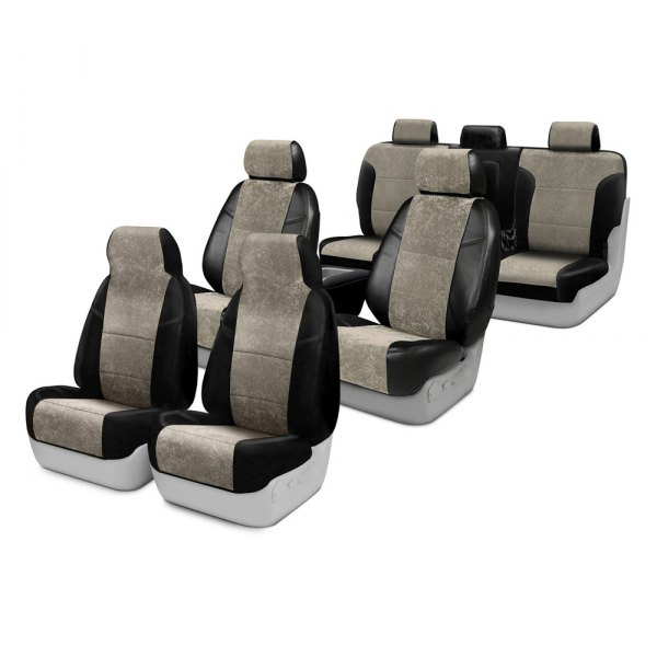 Image may not reflect your exact vehicle! Coverking® - Alcantara Custom Seat Covers Two Rows