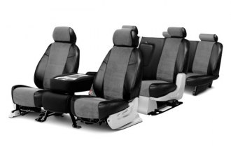 Coverking® - Alcantara Black Leatherette Custom Seat Covers