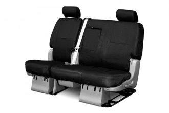Coverking® CSC1E1FD7017 - 2nd Row Ballistic Custom Black Seat Covers