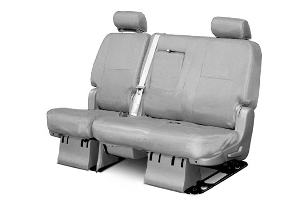 Coverking® - 2nd Row Ballistic Custom Gray Seat Covers