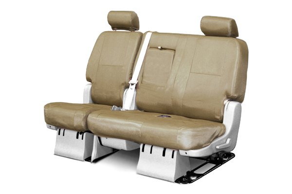 Coverking® - 2nd Row Ballistic Custom Tan Seat Covers