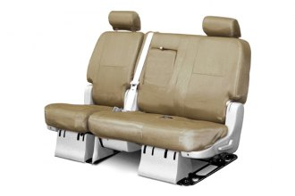 Coverking® CSC1E3FD8448 - 2nd Row Ballistic Custom Tan Seat Covers