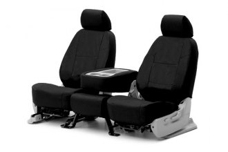 Coverking® CSC1E1HI9280 - 1st Row Ballistic Custom Black Seat Covers