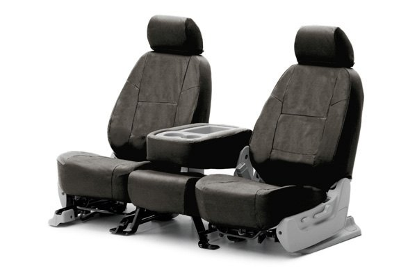 Coverking® - 1st Row Ballistic Custom Charcoal Seat Covers