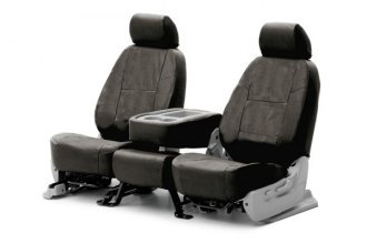 Coverking® CSC1E4SU9345 - 1st Row Ballistic Custom Charcoal Seat Covers