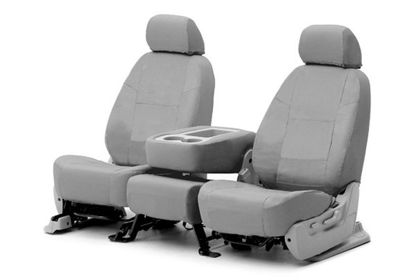 Coverking® - 1st Row Ballistic Custom Gray Seat Covers