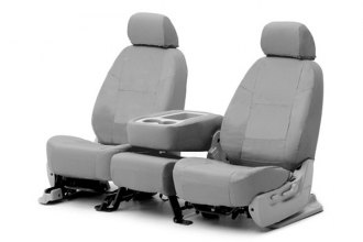 Coverking® CSC1E2NS7128 - 1st Row Ballistic Custom Gray Seat Covers
