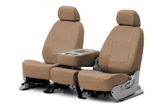 Coverking® CSC1E3KI9334 - 1st Row Ballistic Custom Tan Seat Covers