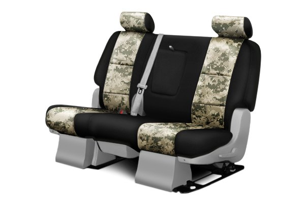Coverking® - 2nd Row Digital Camouflage Custom Jungle Seat Covers with Black Sides