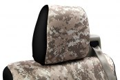 Coverking® - 2nd Row Digital Camouflage Custom Sand Seat Covers with Black Sides