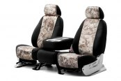 Coverking® - 1st Row Digital Camouflage Custom Sand Seat Covers with Black Sides