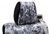 Coverking® - 1st Row Digital Camouflage Custom Urban Seat Covers with Black Sides