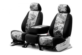 Coverking® CSC2PD09GM7040 - 1st Row Digital Camouflage Custom Urban Seat Covers with Black Sides