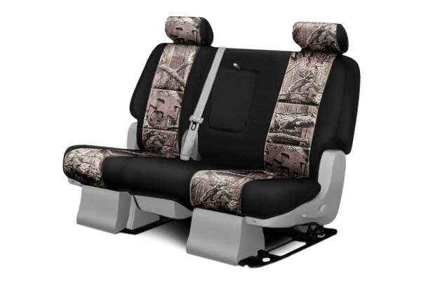 Coverking® - 2nd Row Mossy Oak® Camouflage Custom Break Up Infinity Seat Covers with Black Sides