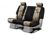 Coverking® - 2nd Row Mossy Oak® Camouflage Custom Duck Blind Seat Covers with Black Sides