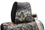 Coverking® - 1st Row Mossy Oak® Camouflage Custom Break Up Seat Covers with Black Sides
