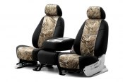 Coverking® - 1st Row Mossy Oak® Camouflage Custom Duck Blind Seat Covers with Black Sides