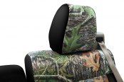 Coverking® - 1st Row Mossy Oak® Camouflage Custom Obsession Seat Covers with Black Sides