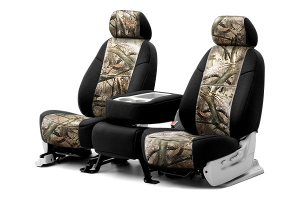 Coverking® - 1st Row Mossy Oak® Camouflage Custom Treestand Seat Covers with Black Sides
