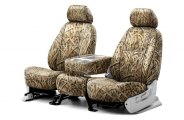 Coverking® CSCMO07DG7393 - 1st Row Mossy Oak® Camouflage Custom Shadow Grass Blades Seat Covers