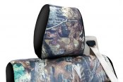 Coverking® - 2nd Row RealTree™ Camouflage Custom Advantage Timber Seat Covers with Black Sides