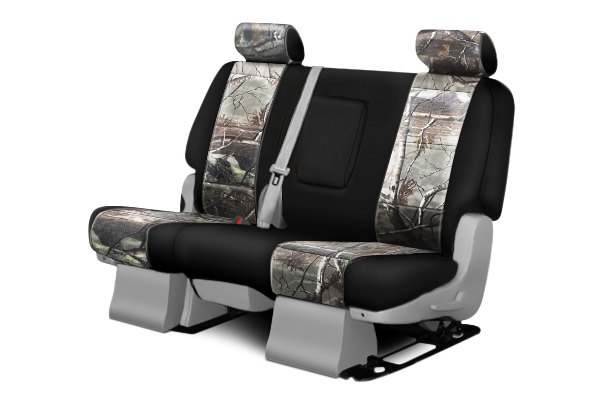 Coverking® - 2nd Row RealTree™ Camouflage Custom AP Seat Covers with Black Sides