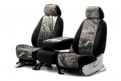Coverking® - 1st Row RealTree™ Camouflage Custom AP Seat Covers with Black Sides