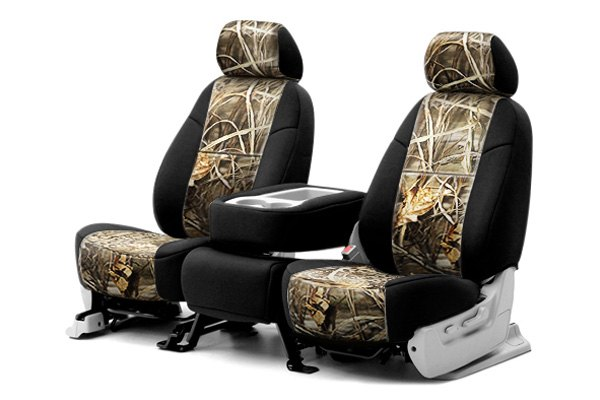 Coverking® - 1st Row RealTree™ Camouflage Custom Max-4 Seat Covers with Black Sides
