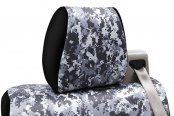Coverking® - Digital Urban Camouflage Custom Seat Headrest Covers with Black Sides