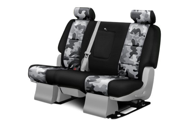 Coverking® - 2nd Row Traditional Camouflage Custom Urban Seat Covers with Black Sides