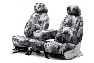 Coverking® CSCPD12FD7024 - 1st Row Traditional Camouflage Custom Urban Seat Covers