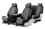 Coverking� - Alcantara Black Leatherette Custom Seat Covers