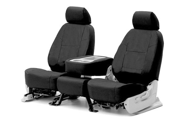 Coverking� - 1st Row Ballistic Custom Black Seat Covers