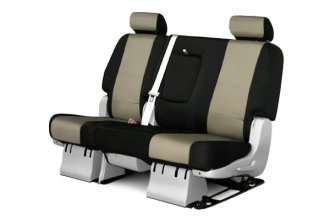 Coverking� - 2nd Row CR-Grade Neoprene Custom Tan Seat Covers with Black Sides