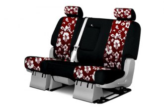 Coverking� - 2nd Row CR-Grade Neoprene Custom Hawaiian Red Seat Covers with Black Sides