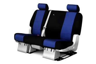 Coverking� - 2nd Row Neosupreme Custom Blue Seat Covers with Black Sides