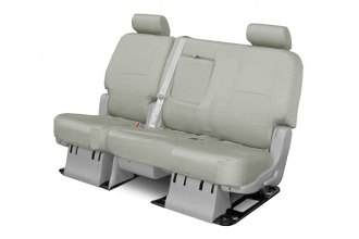 Coverking® - 3rd Row Poly Cotton Custom Gray Seat Covers
