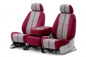 Coverking® - Saddleblanket Custom Wine Seat Covers with Polycotton Wine Sides