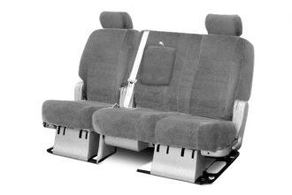 Coverking® - 3rd Row Suede Custom Gray Seat Covers